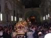Chiesa del Carmine. I fedeli hanno accolto in preghiera l'arrivo del Cristo e della Madonna (foto Alessio Carità)