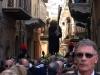 Il Cristo Crocifero in via San Girolamo (foto Alessio Carità)